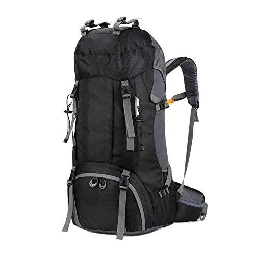 ASDFGHJKL Hiking Backpack, Trekking Rucksack, 60L Large Rucksack for Men Women, Ideal for Camping Trekking Travel Outdoor,Black
