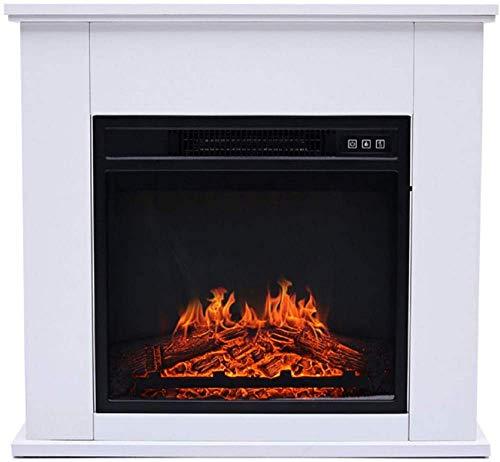 Chimenea eléctrica Suite Chimenea Fuego eléctrico Calentador de repisa de Chimenea Independiente Brick Surround Suite con Control de termostato Ajustable, Sistema de Apagado de seg