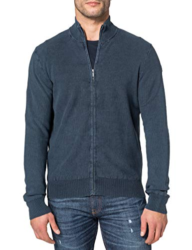 NORTH SAILS Full Zip Sweater 12 GG Suéter cárdigan, Azul Marino, M para Hombre