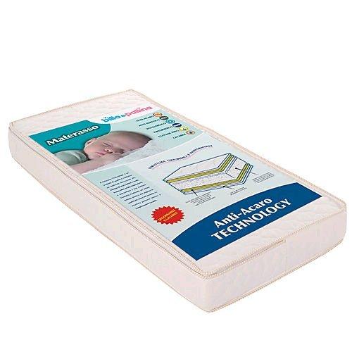 Materasso per Lettino Billo e Pallina Tecnology Sfoderabile Antiacaro 120 X 60 Cm