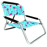 2 Pack of Neso Lightweight Water Resistant Beach Chairs with Shoulder Strap and Slip Pocket - Folds Thin...