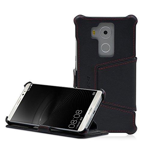 Manna Huawei Mate 8 Hülle Lederhülle Tasche Handyhülle | Nappaleder Leder Hülle, Cover | Schutzhülle Standfunktion für Mate 8 Hülle