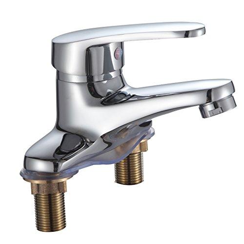 Furesnts casa moderna da cucina e bagno rubinetti tutti rame lavello doppio foro rubinetto miscelatore a caldo e freddo (standard g 1/2porte universale flessibile)