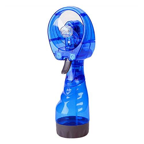 BIOBEY Ventilador De Pulverización De Agua Nebulizada, 1 Pieza Ventilador Portátil De Mini Enfriador De Mano Ventilador De Escritorio Pequeño para Oficina En Casa Coche Al Aire Libre - Azul