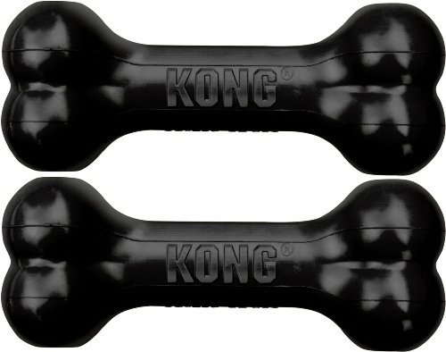 Kong Dog Goodie Bone Extreme (Large Pack of 2, Black)