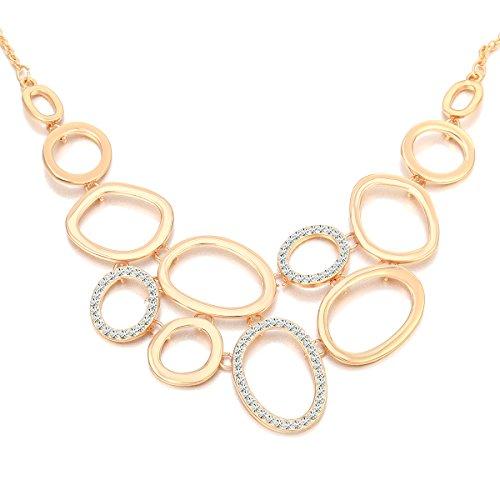 Ouran Mujer Hombre Unisex Niñas Niños Rose Gold and Silver Plated chapado en oro Round Brilliant incoloro Crystal