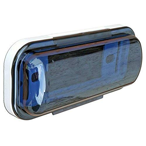 PYLE PLMRCW1 protezione autoradio stereo marina 1 din colore bianco bianca barca gommone piscina imbarcazioni con molla flip-up 1 pezzo