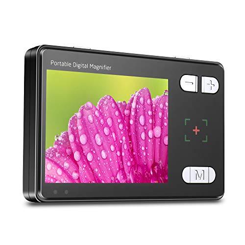 ALRY 3,5-Zoll-Handheld-Tragbare Digitale Videolupe Elektronische Lesehilfe Mit Mehreren Farbmodi Bunter HD-LCD-Bildschirm (3,5-Zoll-2X Bis 24X) AV/TV-Ausgang