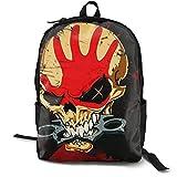 Five Finger Death Punch Mochila clásica para niños de la escuela de los muchachos de la escuela de las muchachas de los niños con la bolsa de