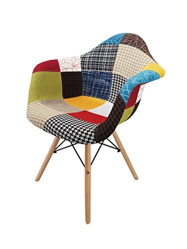 Totò Piccinni Poltroncina Comfort Multicolore Patchwork Design Moderno