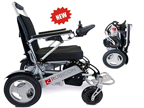 ComfyGO Best Rated Exclusive Deluxe Electric Wheelchair Motorized Fold Foldable Power Wheel Chair, Lightweight Folding Carry Electric Wheelchair, Powerful (Silver Color - Seat Width 19.8')
