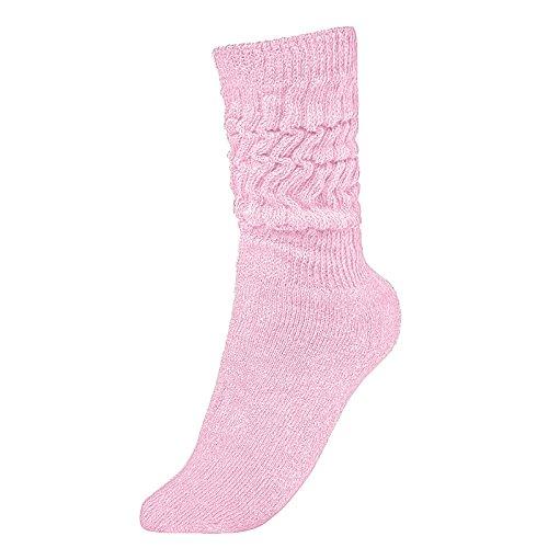 Brubaker Unisex Slouch Socken für Fitness Workout Yoga Gymnastik Wellness Rosa Gr. 39/42