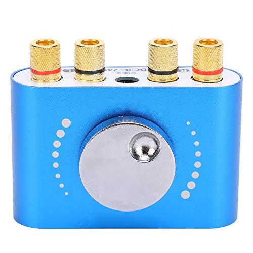 SALUTUYA Amplificador de Potencia Bluetooth Receptor de Audio inalámbrico de 2 Canales Entrada AUX para tabletas para protección contra sobrecalentamiento de recuperación automática