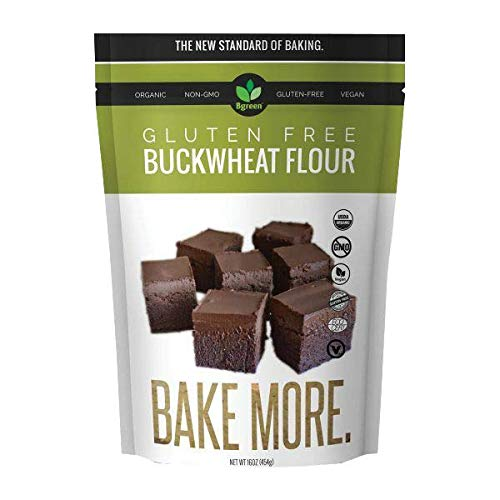 Big Green Organic Food- Organic Buckwheat Flour, Gluten-Free, Kosher, Artisan Baking (1)