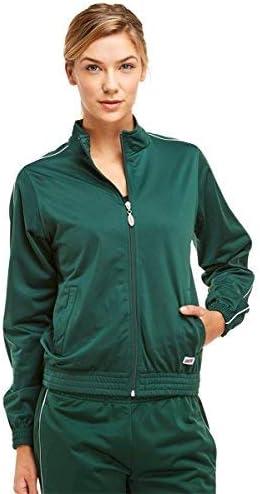 Soffe Girl's Warm-Up Jacket, Dk Green