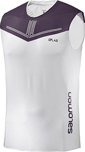 SALOMON S/Lab Sense Tank M T-Shirt pour Homme Blanc XL Multicolore - Blanc (White/Maverick)