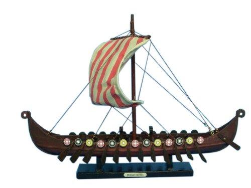 Hampton Nautical Viking Drakkar Ship, 14' , Brown
