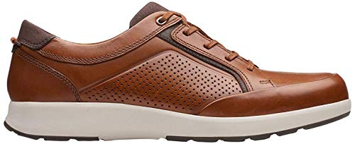 Clarks Un Trail Form, Zapatos de Cordones Derby, Marrón (Tan Leather-), 43 EU