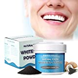 50g Coconut Charcoal Teeth Whitening Powder, Effective Remover Tooth Stains for a Healthier Whiter Smile