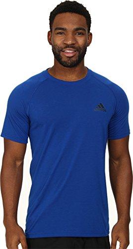 adidas Performance Ultimate Herren T-Shirt mit Rundhalsausschnitt, Vista Green/Colored Heather/Solid Grey, XXL, Herren, Collegiate Royal/Schwarz, Medium