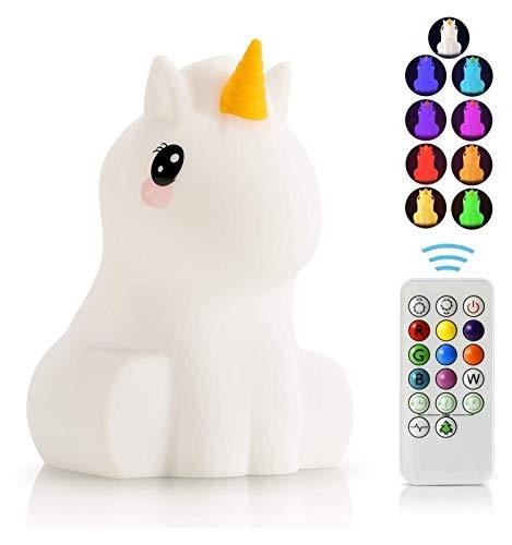 JINSUO U^S^B - Lámparas recargables de silicona para animales, portátil, cambio de color, brillante, suave, bonito regalo para bebés y niños pequeños