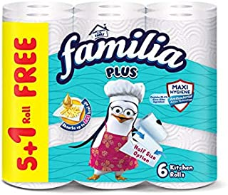 Familia Kitchen Paper Towels - 5 Rolls with 1 Extra Roll