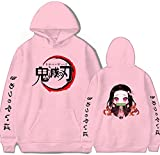 Demon Slayer Fashion Pullover Comic Game Anime Sweatshirt Athletic Casual Hoodie Sweater Hooded Pink