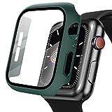 BEEZMOO 対応 Watch Series 6 / SE/Series 5 / Series 4 PC素材 強化ガラス 保護カバー アップルウォッチケース 44mm(グリーン)
