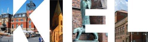 WANDTATTOO w574 mehrfarbige Wandschrift Kiel Wandaufkleber, 96x27 cm