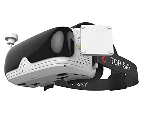 TOPSKY Prime1S FPV Goggles, Headplay Glasses 5.8G 48CH Raceband Dual Modules DVR Headset, FPV Receiver Kit with Eyepatch for Quadcopter Racing Drone