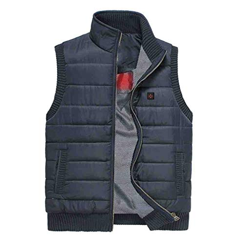 Affordable Dainzuy Men's Lightweight Insulated Electric Heated Vest USB Heating Slim Fit Heated Coat...