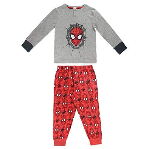 Cerdá Spiderman - Pijama Manga Larga 2 Piezas Interlock
