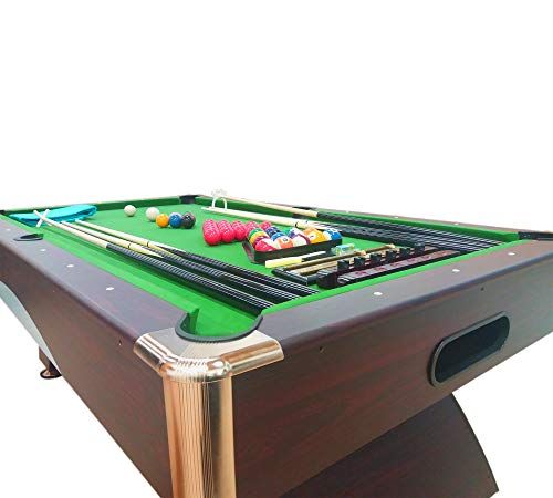 GRAFICA MA.RO SRL 8 Ft Pool Table Billiard Model Leonida Playing Table Game Green Indoor Sports FULL OPTIONAL