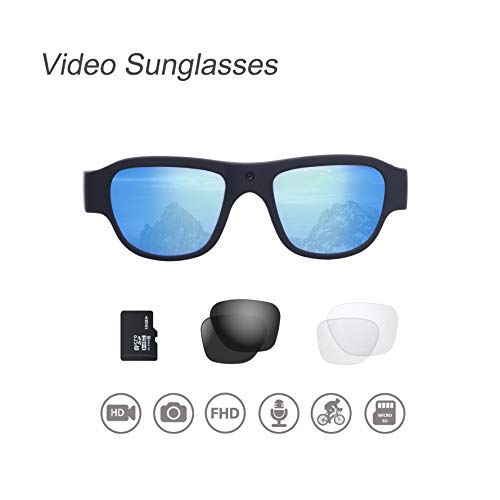 OHO Video Sunglasses, 16GB Ultra HD Outdoor Sports Action Camera with Built in 16MP Camera and Polarized UV400 Protection Safety Lens (1920x1080-1)