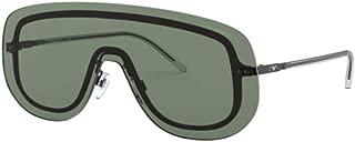 Women's EA2091 EA/2091 3014/71 Black Shield Sunglasses 42mm