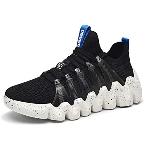 XIDISO Zapatillas de Deporte para Hombre Zapatillas de Deporte Ligeras de Moda Zapatos para Caminar Transpirables Ocasionales