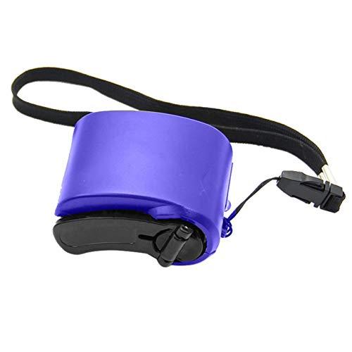 Mini Cargador Compacto de manivela generador Manual Cargador de Emergencia para teléfono móvil Cargador USB Stay Connected-Blue 1 tamaño