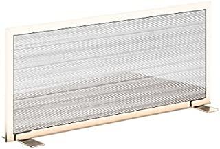 """(White, Brown, 18"""" h X 30"""" w) - Obex 18X30P-L-W-FS Polycarbonate Free Standing Privacy Screen, White, 46cm H X 80cm W"""