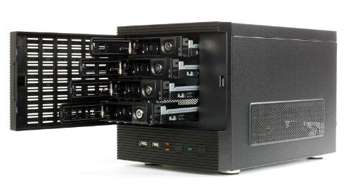 Eolize SVD-NC11-4 Mini ITX PC-Gehäuse (4X 3,5 HDD, 2X USB 2.0) für NAS System