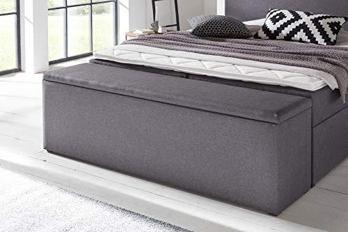 Furniture for Friends Möbelfreude® Bettbox Nelli Anthrazit | Aufbewahrungsbox für Boxspringbetten und Polsterbetten | Sitztruhe 160 x 40 x 51 cm