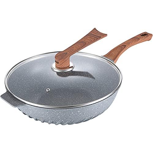 Médico Piedra Freír Plato, Menos Grasa Humo Sin Recordar Pan, Cocina De Inducción Estufa De Gas General,A,30CM