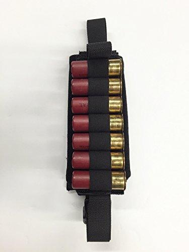 Hi-Tech Custom's 12 Ga. Shotgun Pull-Out Shell Carrier Molle Pouch (for Any Tactical Shotgun) (Black)