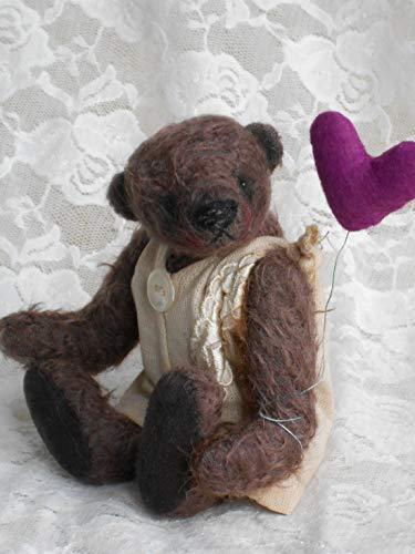 Künstlerbär Benedikt von den Urbi-Bären. Handgefertigte Künstlerbären, Teddybären, Teddys, Bären und Tiere im vintage und old style Look