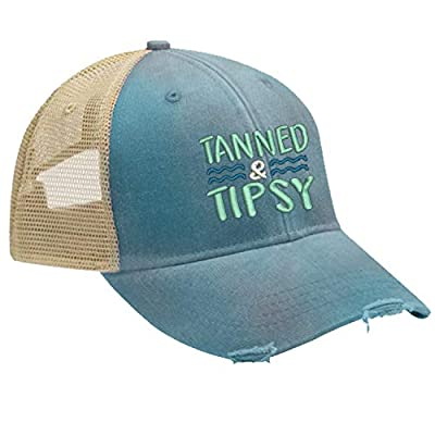 Piper Lou - Tanned and Tipsy Trucker Hat with Snapback Enclosure