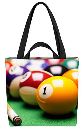 VOID Billiard Kugeln Queue Tasche 33x33x14cm,15l Einkaufs-Beutel Shopper Einkaufs-Tasche Bag