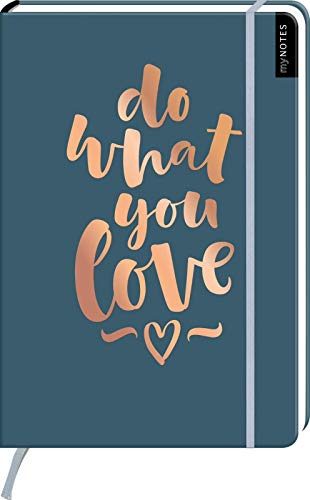 myNOTES Notizbuch A4: Do what you love - notebook large, dotted - für Träume, Pläne und Ideen / ideal als Bullet Journal oder Tagebuch