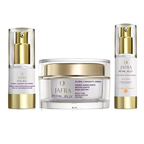 JAFRA Royal Jelly Ritual Beauty Box (Vitalisierende Tagescreme, Augenpflege, Strahlende Haut Serum)