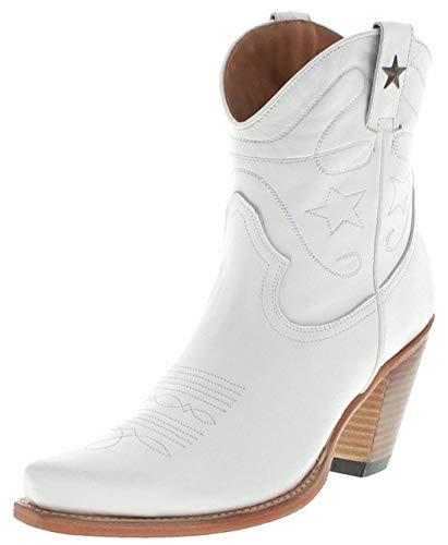FB Fashion Boots Damen Cowboy Stiefel 2498 Blanco Westernstiefel Lederschuhe Weiss (38 EU, Blanco)