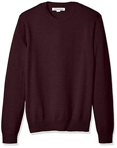 Amazon Essentials Men's Crewneck Sweater, Burgundy, XX-Large