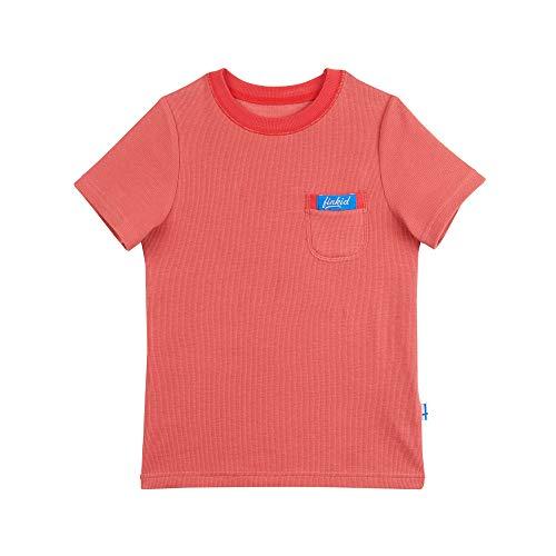 Finkid Miksu Rot, Kinder Kurzarm-Shirt, Größe 120-130 - Farbe Cranberry - Red